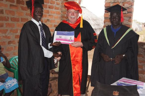 Graduation in Otuke Uganda not far from Southern Sudan